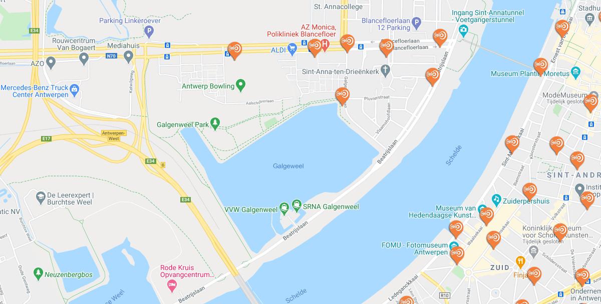 Antwerpen Fietst Met Velo Huur Een Deelfiets Voor Een Dag Week Of Jaar
