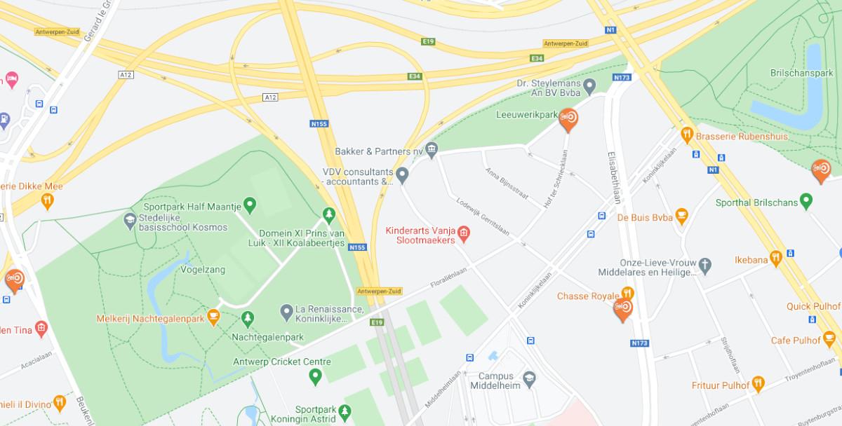 Fietsroutes in Antwerpen-stad